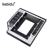 "Kebidu 12.7mm Aluminum SATA Second 2nd 2.5"" Plastic SSD HDD HD Hard Disk Driver  Caddy  External Case Optical Bay for Laptop"
