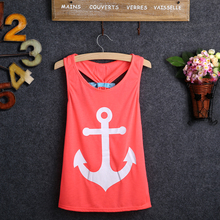 Fashion Infant Toddler Baby Girls Kids Summer Anchor Partten Soft Cotton Vest Sleeveless Tank Long Top T Shirt(China)