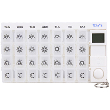 ElectronicTimer Digital 7 days Pill Reminder Organizer Pill Box Case Timing Splitters Case Health Care Medicine Timer(China)