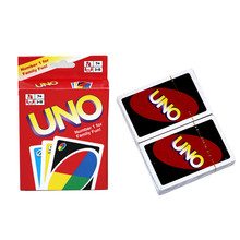 Fun One Pack Family Funny Entertainment Board Game UNO Poker Card Playing Poker Chips Set Cards Puzzle Games 108 Pcs Gift Box