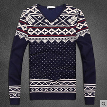 Wholesale men's winter hit color sweaters man casual o-neck knitted sweaters men pullover long sleeves bottoming clothings S914(China)