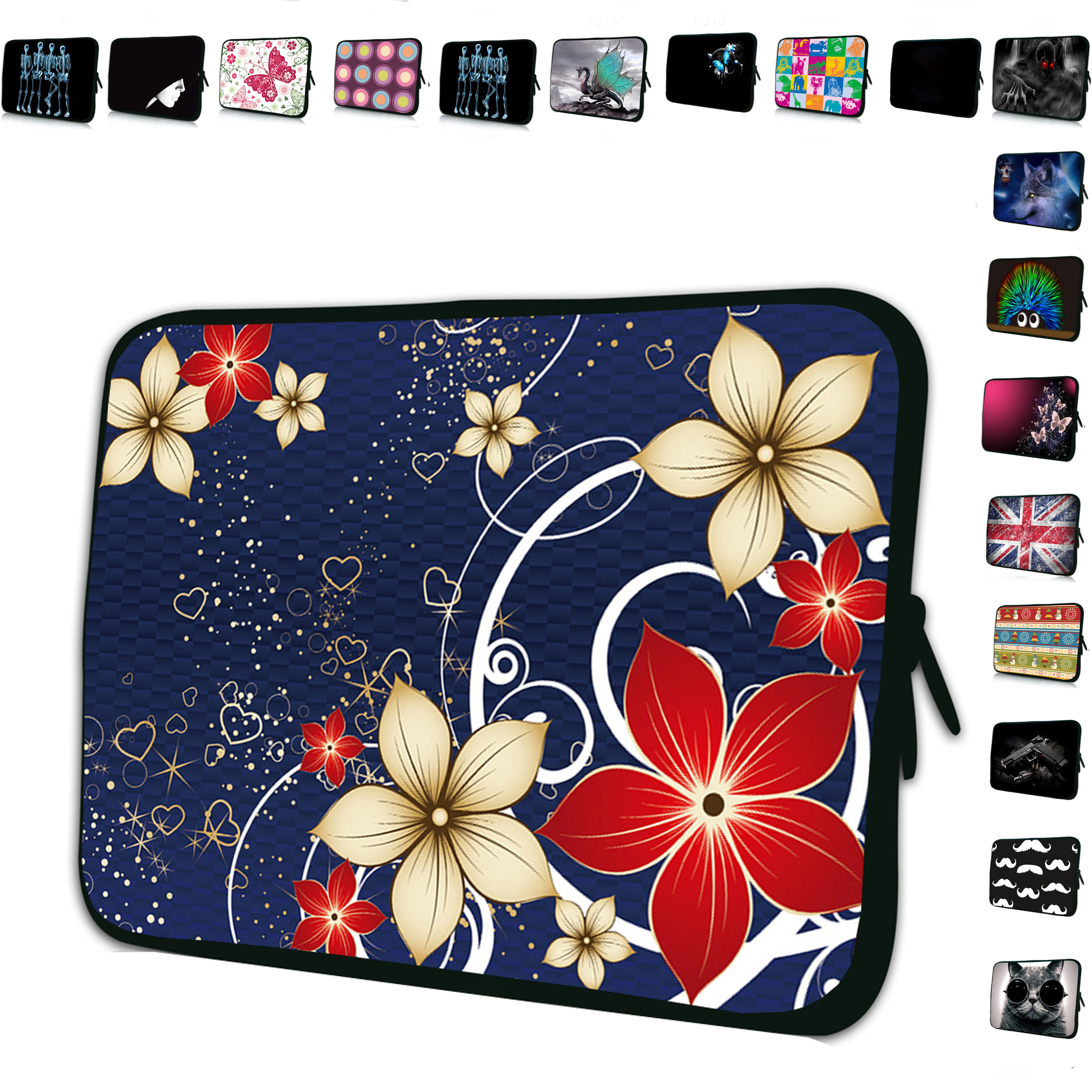 Portable Tablet 10 inch 10.1 Sleeve Bags Zipper Neoprene Cover Pouch samsung galaxy tab s2 9.7 Ipad Air 5 4 4th 3 3rd 2 9.7""