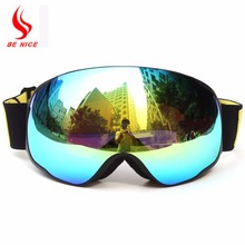 BENICE brand wide vision professional ski goggle eyewear anti-fog UV400 big men women snow goggles ski glasses skiing snowboard(China)
