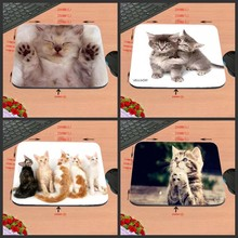 Best Sales Customized Mouse Pad Animals Lovly Cats Keyboards Kittens Computer Notebook Rectangle Rubber Mouse Mat Pad(China)