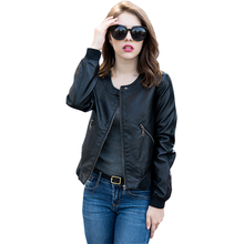 Buy PU Leather Faux Leather Jackets Motorcycle Women Jacket Autumn Short Slim Zipper Thick Suede Warm Ladies Coat Plus Size RE0159 for $48.39 in AliExpress store