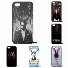 eat the rude hannibal nbc custom cell phone case capa For iPhone 4 4S 5 5C SE 6 6S 7 Plus Galaxy J5 J3 A5 A3 2016 S5 S7 S6 Edge
