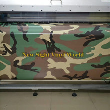 Large Woodland Camouflage Car Vinyl Wrapping Foil Bubble Free For Car Decal