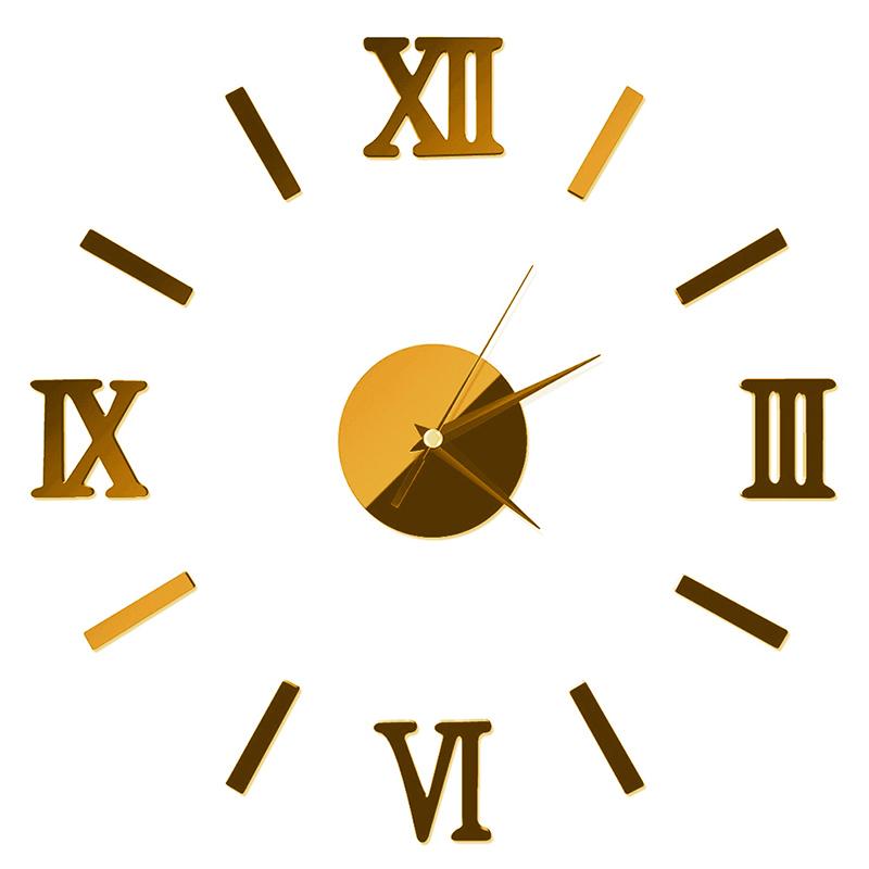 HTB1UnqHcN6I8KJjSszfq6yZVXXaS - Luxury Large Wall Clock Living Room DIY 3D Home Decoration Mirror Art Design Fashion Wall Posters Decor Crafts Wall Clock New