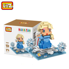 LOZ Single Sale Mini Princess Elsa Cute Dolls Diamond Bricks Educational Models Building Blocks Toys Children 9497 - LOZs Block Store store