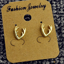 Fashion jewelry gold silver color antlers stud for women men lovers' gift 1lot=2pairs E3276