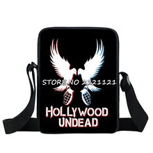 Hollywood Undead Bird Mini Messenger Bag Pigeon Graphic School Bags Teenage Mini Crossbody Bags Children Book Bags(China)