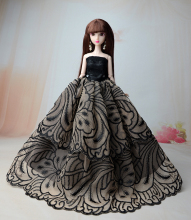 NK 1 Set Doll Dress Princess Wedding  Newest Noble Party Gown For Barbie Doll Fashion Design Outfit Best Gift For Girl' Doll