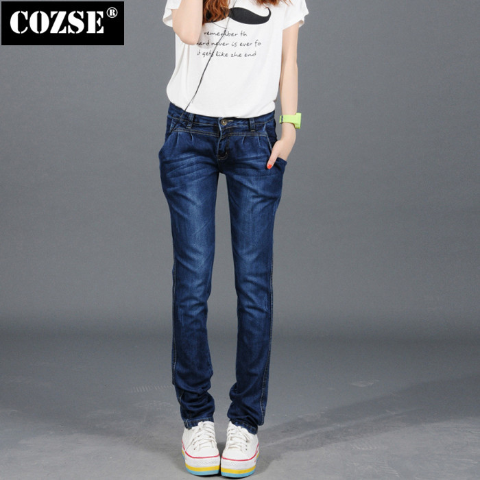 2016 New Women Casual Pants Autumn Skinny Lady Trendy Female Jeans Pants Long Trousers Hot Sale D3480Одежда и ак�е��уары<br><br><br>Aliexpress
