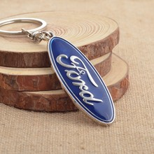 Wholesale 10pcs/lot New Zinc Alloy Car Logo Keychain for Ford Focus Keyring Key Ring Chain Key Holder