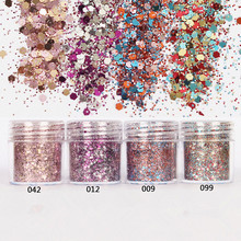 2016 New DIY 10ml/Box 4 Colors Nail Glitter Powder Pink Rose Red Mixed Sequins Manicure Nail Art Tips Nail Art Decoration Set