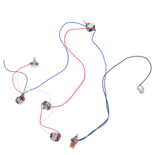 New Arrival Guitar Parts Metal and Wire WIRING HARNESS KIT - 2 Volume/2 Tones 3 Way Chrome Switch For Gibson and LP Style Guitar