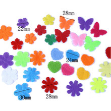 240PCS Eco-friendly Heart Flower Butterfly Style Felt Fabric Pads Patches DIY Jewelry Accessories Padded Felt Shape Craft(China)