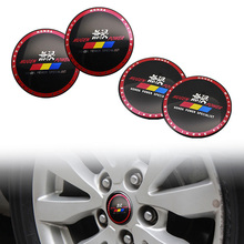 4pcs 56.5mm MUGEN POWER Car Auto Rim Steering Wheel Center Hub Cap Emblem Badge Stickers for Honda
