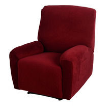 Elegant Pure Colour One Seater Recliner Cover Retro Couch Sofa Covers Soft Polyester Spandex Recliner slipcover Chair Cover