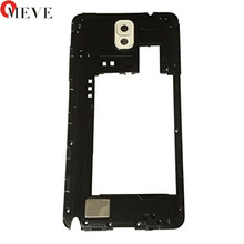 Original For Samsung Galaxy Note 3 N9005 N900 3G Back Middle Frame Rear Housing With Camera cover Panel Lens Replacement(China)