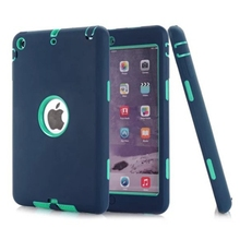"Hybrid Silicon Kids Case For Apple iPad mini 1/2/3 7.9""Retina Heavy Duty Shockproof Dual Layer Rugged Armor Rubber Hard Case"
