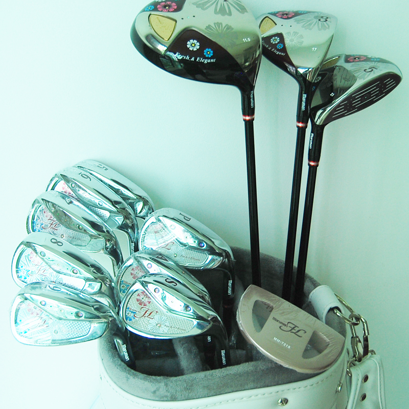 Cooyute New lady Compelete set of clubs Maruman FL Golf clubs Driver+fairway wood+irons+Putter Graphite Golf shaft free shipping(China)