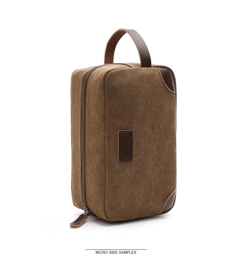 Canvas Travel Bag Toiletry Organizer Shaving Dopp Kit Travel Cosmetic Bag Makeup Men Handbag Casual Zipper Wash Cases Women 8