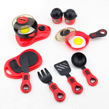 Cookware Sets Child Plastic Ware Cooking Pretend Play Kitchen Toys Cooking Stove kitchen furniture play house