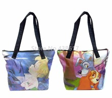 New Fairies Tinkerbell Lady and the Tramp Dwarf Women Shoulder Bag Large Handbag Fashion Cartoon Casual Tote Girls Shopping Bags(China)