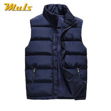 6XL Men Vest Coat Winter Autumn Keep Warm Male Sleeveless Jacket Coat Top Quality Thicken Vest Men Muls Brand Cothing Plus Size(China)
