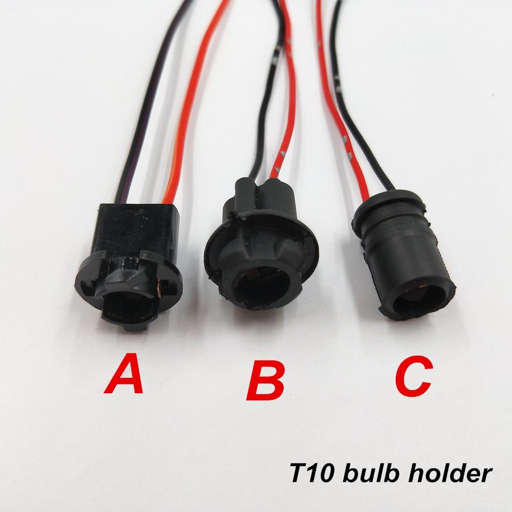 2 X Wedge Soft Rubber Connector Car Light Socket  Bulb Holder T10 W5W