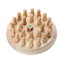 1Set Kids Wooden Memory Match Stick Chess Game Educational Color Cognitive Ability Memory Training Developmental Toy(China)