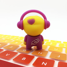 Cartoon Music Man Flash Disk Memory USB for Gift Pendrive USB Flash Drive 128GB 64GB 32GB 16GB 8GB 4GB Love Man USB Pens Stick(China)