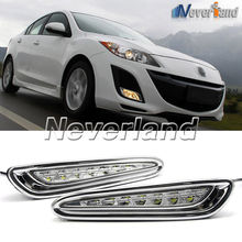 Buy One Set 8 LED Daytime Running Lights DRL Auto Car Driving Front Fog Lamp White Bulb Mazda 3 2013-2015 D10 for $56.68 in AliExpress store