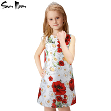 2016 Fashion girl dress summer infant casual dresses flower white/black kids clothing sundress baby clothing girl princess dress