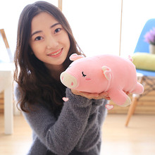 1pc 30cm Kawaii Sleeping Pig Plush Toy Stuffed Soft Animal Toy Doll for Kids Baby Girls Toy Lovely Children's Gift(China)