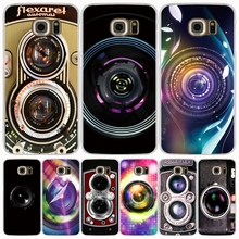Camera Lens Sticker cell phone case cover for Samsung Galaxy S7 edge PLUS S8 S6 S5 S4 S3 MINI