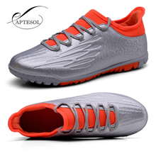 APTESOL Lawn Soccerway Boots For Men Turf Outdoor Sport Sneakers Training Football Shoes Light Weight Soccer Cleats Sneakers