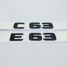 Black E63 C63 Emblem Rear Trunk Number Letter Badge Sticker For Mercedes Benz E C Classic 4Matic AMG W204