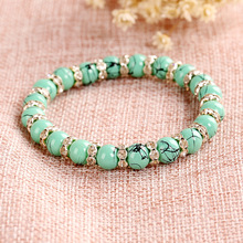 Buy Charm Blue Natural Stone Bracelets Women Buddha Beads Hologram Bracelet Female Braclet Mens Braslet Yoga Jewelry Pulsera for $1.07 in AliExpress store