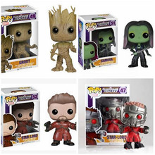 2017 New Marvel Movie 10cm FUNKO POP Guardians Of The Galaxy Star Lord Groot Gamor Rocket Raccoon Action Figure Model Pop Funko