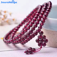 Wholesale Fine 6A Natural Garnet Bracelets Wine Red Bead Seven Star Array Pendant Bracelet Lucky Women Girl Stone Gift Jewelry(China)