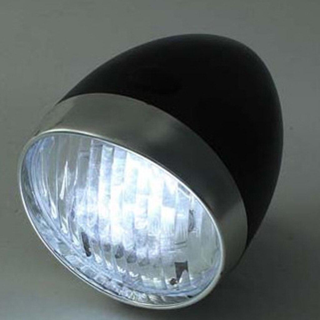 Vintage-style Bicycle Front LED Headlight//Fog Light Metal Chrome
