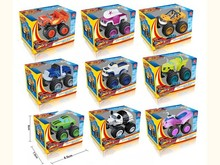 New 9pcs/set Blaze Monster Toys Vehicle Car Pickle Zeg Darrington Crusher Stripes Original Box Best Gifts For Kids