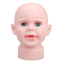 Cute Children Manikin Head Hats Wig Mould for Show Stand Model Mannequins(Boys)