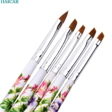 5pcs UV Gel Acrylic Nail Art Brush Painting Pen Set Nail Design Manicure Tool