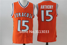 Carmelo Anthony #15 Syracuse Orangemen College Men Basketball Jersey Stiched(China)