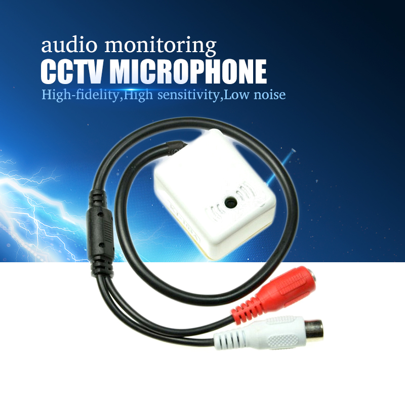 YiiSPO Mini MIC CCTV Microphone Audio Pickup Device for Camera Adapter High Sensitivity Good quality audio monitoring DC12V(China)