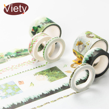 Infeel Green Series washi tape DIY decorative scrapbooking planner masking adhesive tape label sticker stationery