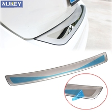 Fit For 2012 2013 2014 Ford Focus Mk3 Hatchback Rear Deck Bumper Protector Panel Boot Cover Sill Plate Trunk Trim